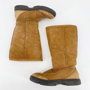 Ugg Ultimate Braid Sheepskin Tall Boot in Chestnut